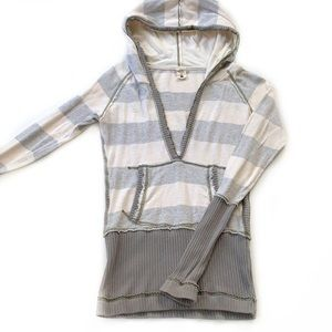 Free People • Striped Hooded Top
